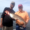Bill Gamble's redfish caught with Captain Ryan Hackney