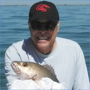 Don Prudhomme and a nice Tampa Bay snapper.