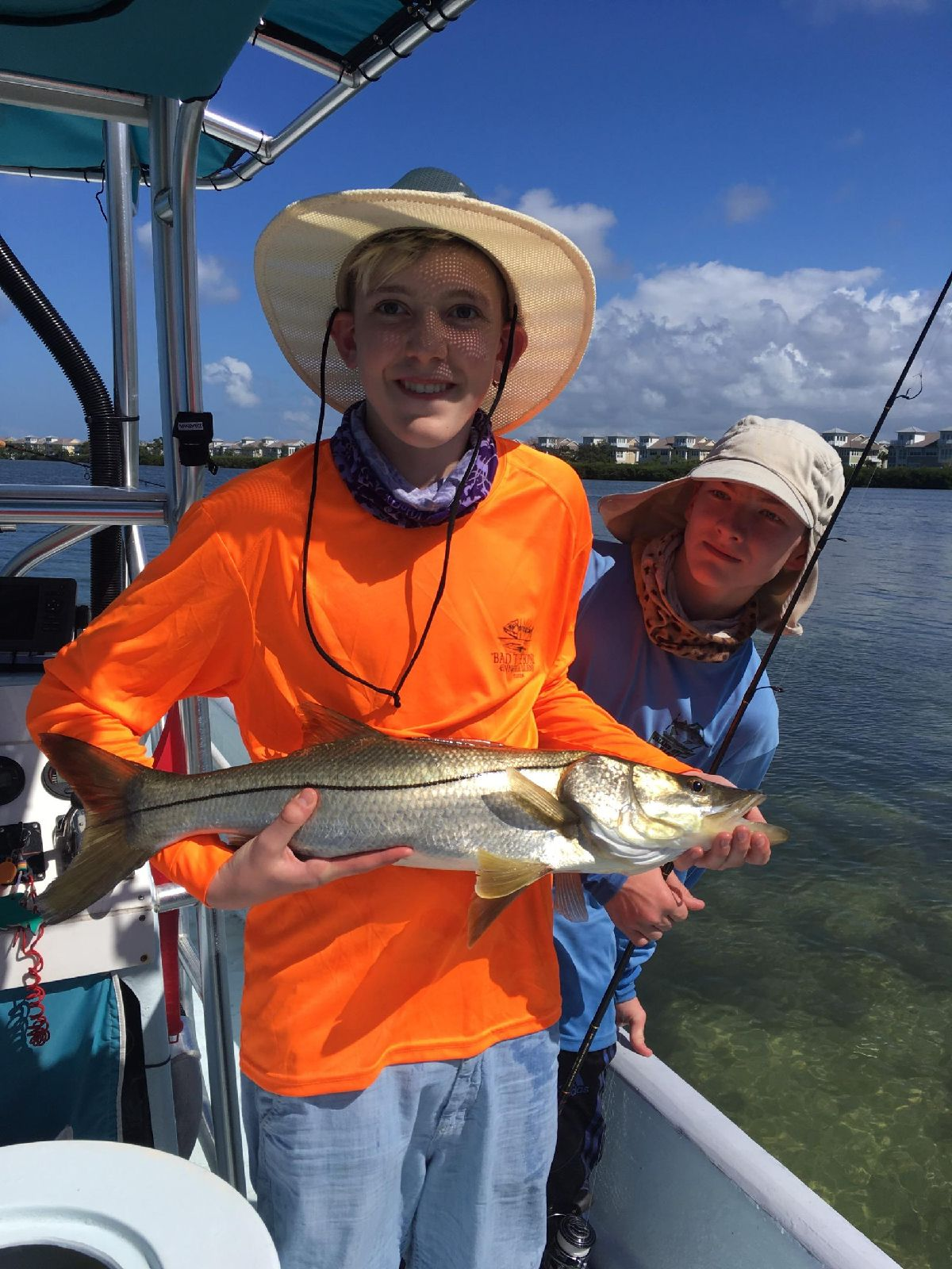 The snook were biting.
