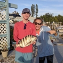 Matt Danziger and fiance Hayley of Anna Maria Island with a nice Sheep Head for fish tacos.