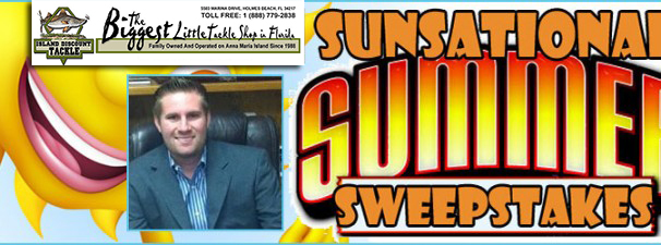 Island Discount Tackle's Sunsational Summer Sweepstakes WINNER!