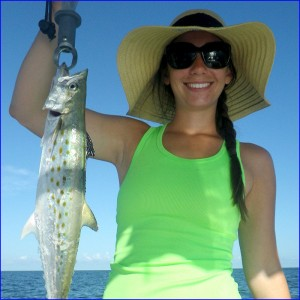 Spanish mackerel were hitting in Tampa Bay.